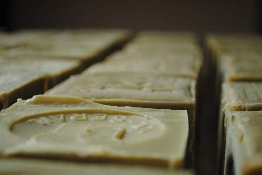 savon de marseille soaps drying